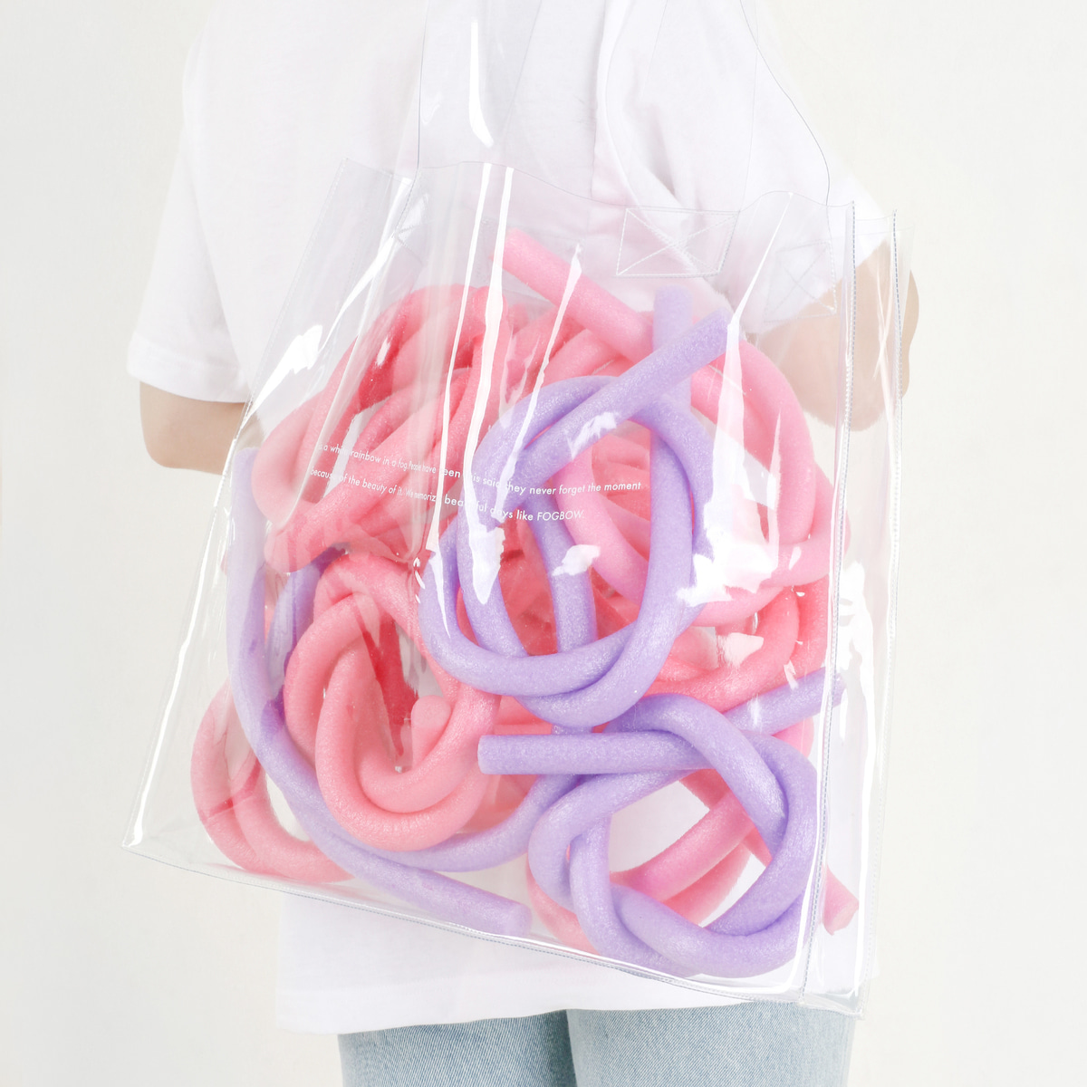 fogbowwhite rainbow bag