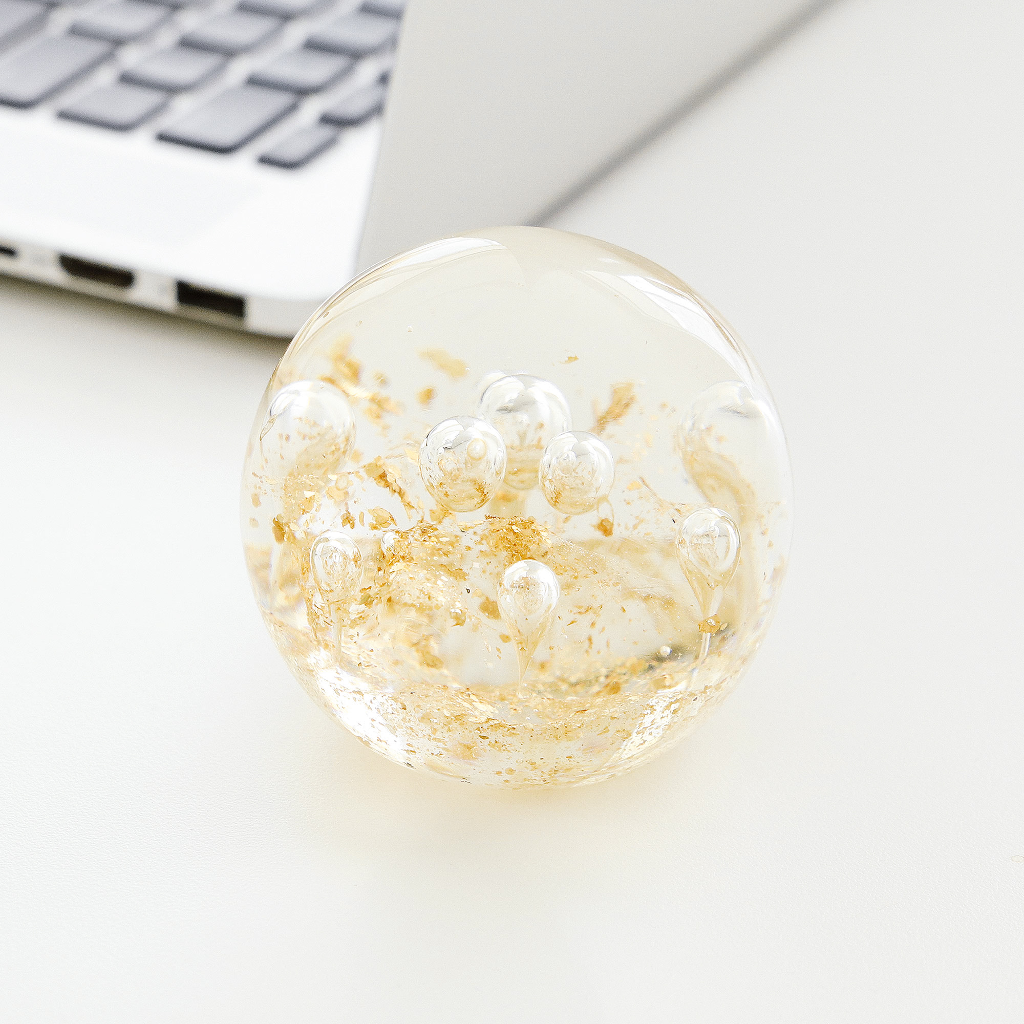 FOGBOWGlass paper weight / GOLD